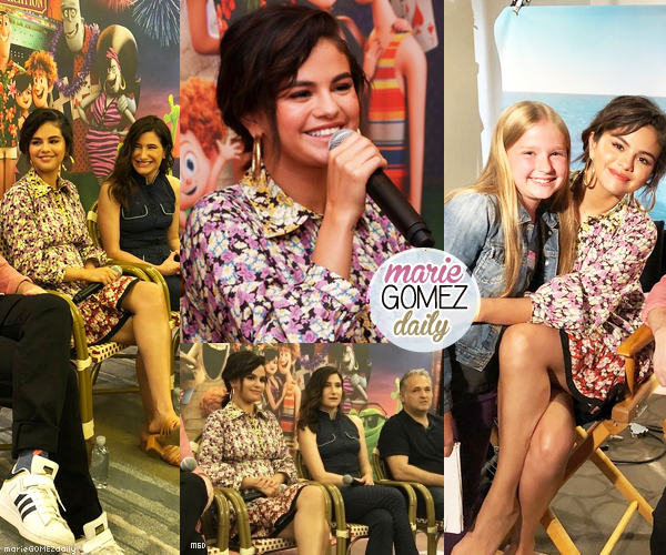 • 28/06/2018 : Selena était présente à une conférence de presse en ce qui concerne le film Hôtel Transylvania 3. Mon avis : La robe de Selena lui allait assez bien même au niveau des couleurs. La mise en beauté est aussi très belle et elle est très souriante. TOP.