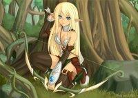 elfe archère blonde