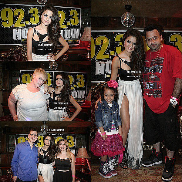 . 29/06/13 : Selena était a la Radio 92,3 FM Event ou elle a performer a New York..