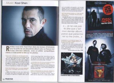 """Apparation dans """" PROJECTEUR """" le magazine"""
