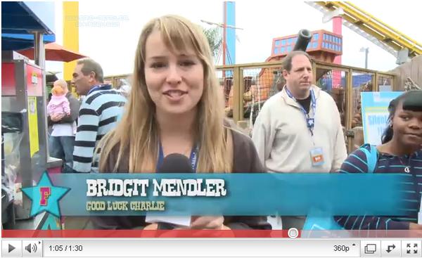 .       « Bridgit apparaît dans 2 nouvelles vidéos : l'une pour  Friends For Change  & l'autre pour la Mattel Party »         .