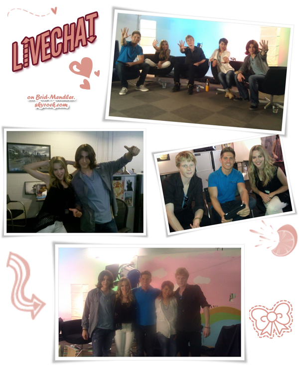 .        « Bridgit & ses co-stars de  Lemonade Mouth au live chat de DC-Usa ce    7 Mai  »                .