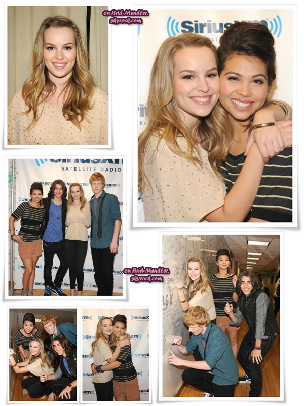 .        « Bridgit à la radio  Sirius XM avec ses  co-stars de Lemonade Mouth ce 8 Juin !   »                 .