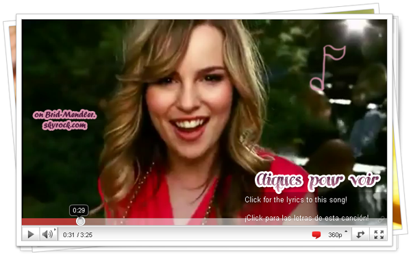 .        « Clip officiel de We Can Change The World, chanson  écrite  entièrement par Bridgit ! ( article associé ) »           .