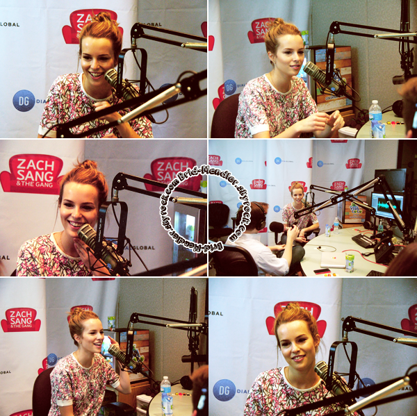 22 Août 2013 | Bridgit était à l'émission de radio Zach Sang & the Gang à New York