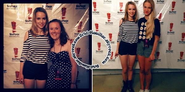 17 Août 2013 | Bridgit continuait sa tournée d'été au Six Flags à Agawam