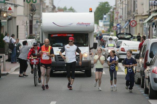 Urbain  GIROD ( Suisse) dossard n° 6  dans Paris-Colmar 2011