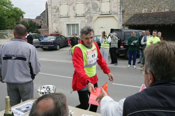 Pascal DUFRIEN (France) dossard  n°14 dans Paris-Colmar 2011