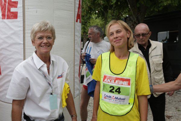 Iryna PEREVALO (Ukraine) dossard  n ° 35 dans la François 1er 2011