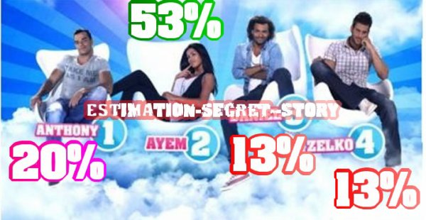 TROISIEME ESTIMATIONS DE VOTES : ANTHONY , AYEM , DANIEL , ZELKO