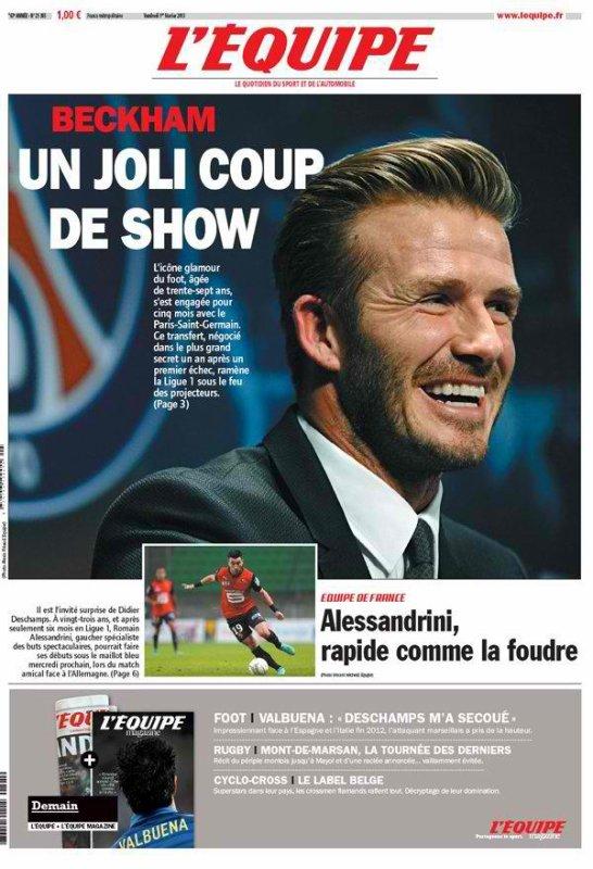 Le nouveau pari de David Beckham à Paris au PSG