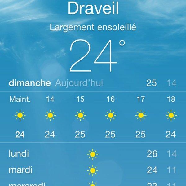 Belle météo à venir cette semaine en région parisienne  /  Beautiful weather forecast this week in Paris area