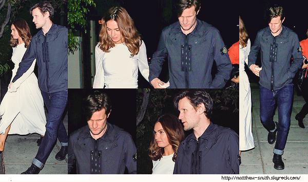 •••  CANDID Matt et sa compagne Lily allant manger des sushis au Matsuhisa à Beverly Hills, le 10 juin 2017           Matthew et Lily sont tous aussi beau l'un que l'autre, j'apprécie tout particulièrement jean, revers et les chaussures de M.