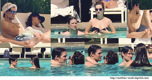 •••  CANDID Matthew et Lily profitant de la piscine d'un hôtel de Palm Springs à  LA, le 18 juin 2017           J'adore voir ce genre de candids avec Matt et Lily je les trouve vraiment trop mignon tous les deux !