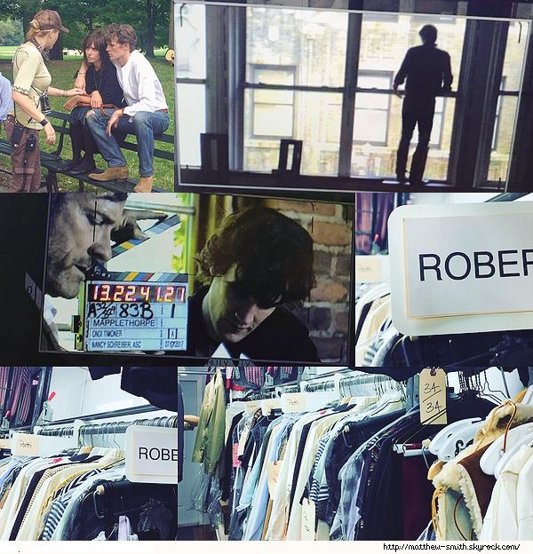 •••  M Set De toutes nouvelles photos du tournage de RM sont apparues             Nous retrouvons donc Matthew dans la peau de Robert sur le tournage de son prochain film ainsi que des photos de ses futures tenues.