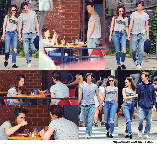 •••  CANDID Matt et Lily se promenant  et déjeunant dans les rues de New York, le 23 juillet 2017            J'aime tellement ces photos qu'en en voyant paraître de nouvelles, j'ai décidé de les ajouter dans un second article.
