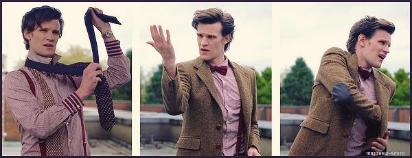 •••  INTERVIEW Je vous ai trouvé un nouvel interview de Matt, ce dernier est en lien avec la série Doctor Who.                         Matthew nous y explique pourquoi ce choix de tenue pour The Eleventh Doctor lors des saisons 5 à 7 de Doctor Who ( 2009-2013)