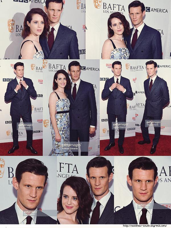 •••  EVENT  Matthew et Claire au the BBC America BAFTA Los Angeles TV Tea Party 2017, le 16 Septembre 2017         Matt enchaîne les événements avec Claire. Toujours aussi classe, il a opté pour un beau costume sombre et une cravate bordeaux.