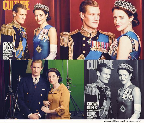 •••  COVER Et nous retrouvons Matt et Claire dans leurs rôles du prince Philip et de la reine Elizabeth II                         Les deux acteurs de The Crown font la couverture du magazine Culture et ont fait des photos pour the Sunday Times. La 2de est superbe.