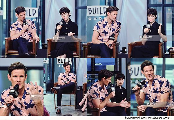 •••  EVENT  Matt et Claire au Build Studio pour parler de la seconde saison de The Crown, le 04 Décembre 2017        J'aime cette chemise même si le motif est peu commun. Le rose lui va bien même si je le préfère avec des tons plus sombres.