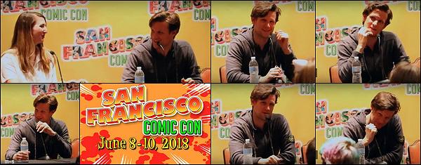 •••  EVENT Matt été au San Francisco Comic Con, il a ainsi pris des photos avec des fans, le 9 juin 2017           Une fois de plus aucune photos officielles, c'est chiant ! J'ai donc pris deux photos de fans faute d'officielles. C'est un TOP pour Matt.