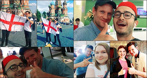 •••  CANDIDS Matt été avec l'un de ses plus proches amis, Nick Kingsnorth à Moscou, le 10 - 11 juillet 2018           Le duo été sur le sol russe pour soutenir l'équipe anglaise pour le match contre la Croatie du 11/07. Que des photos de fans dispo.