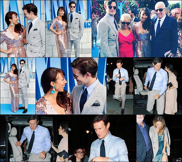 •••  EVENT Matt a été pris en photos avec sa famille à l'avant première du prochain film de Lily, le 16 juillet 2018           Le couple à ensuite été vu rentrant à leur hôtel après l'after party de la première de Mamma Mia: Here We Go Again! à Londres.