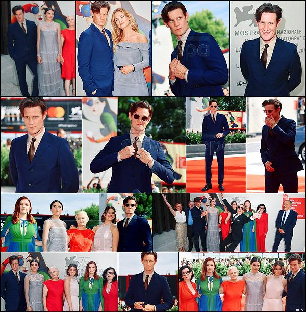 """•••  APPEARANCES Matt été avec le cast de """"CS"""" pour présener le film au 75th Venice Film Festival, 02/09/2018          Quelques photos sont taguées dsl. Lily a tenu à accompagner son compagnon pour ce grand jour. Ils sont trop chou ! Matty a la classe !"""