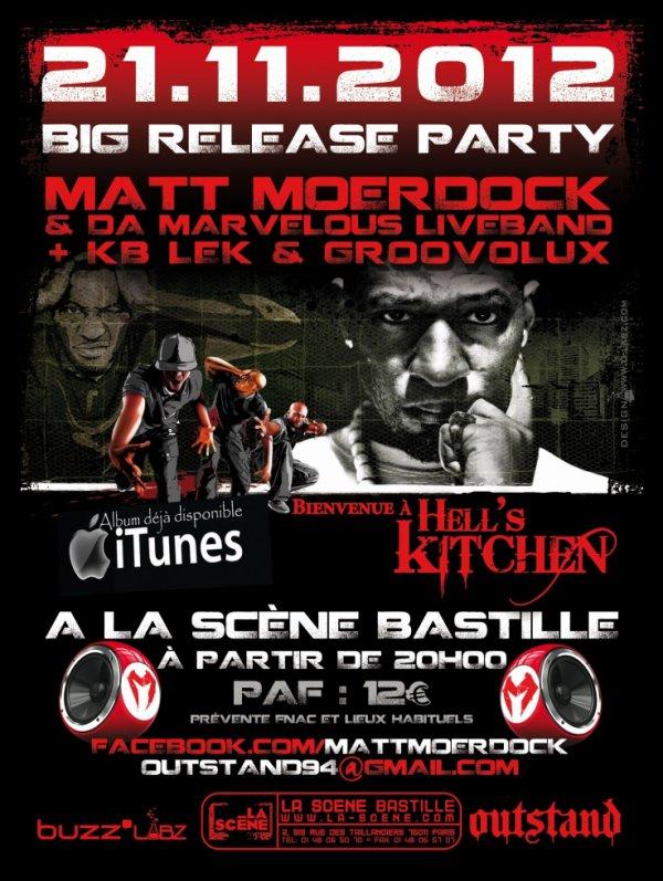 Concert à La Scène Bastille, Matt Moerdock & Da Marvelous LiveBand