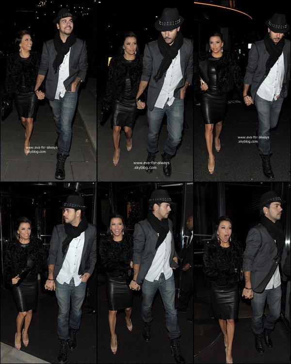 Le 9 decembre Eva et Edouardo ont ete vue dans sortir d'un restaurant Londonien ! Eva a l'ai terrifier! 12/09/11