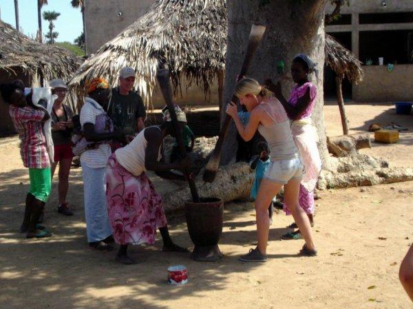 le partage dans les villages traditionnels sereres