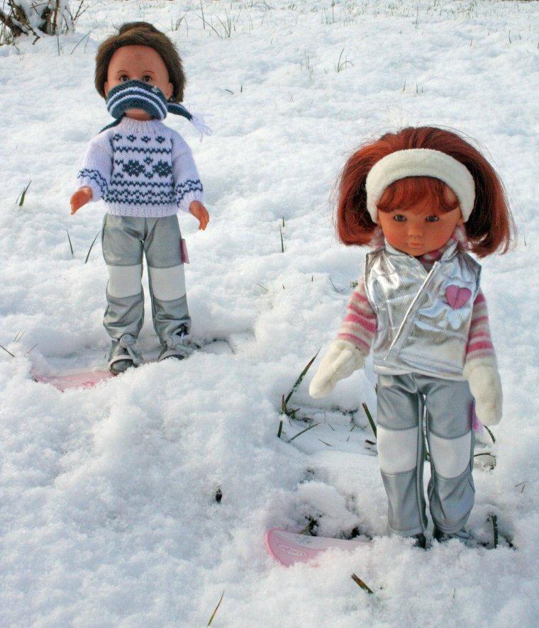 Les Chéries aux sports d'hiver !