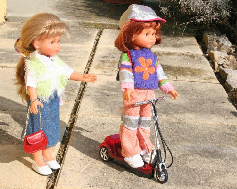 Camille et Clara en promenade