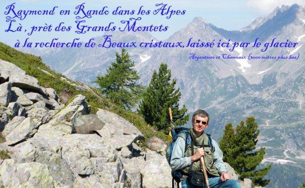 Raymond le forgeron en Rando dans les Alpes