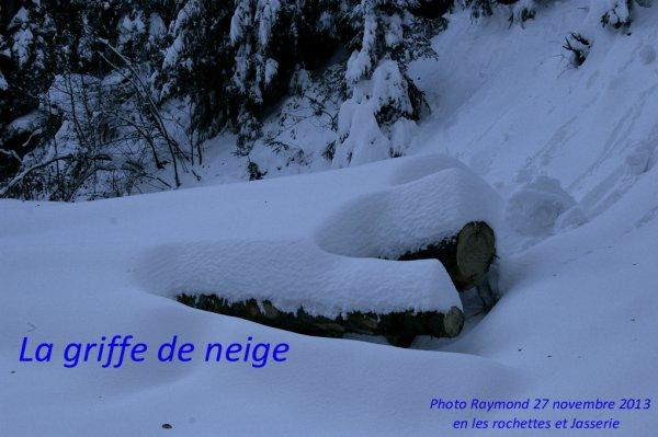 Entre sentier de Rochette sur oeillon (Fantastique par -15 ° dehors)