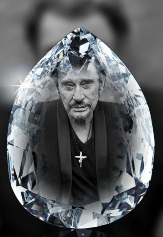 Un cristal  éternel  pour mon idole Johnny   Smet