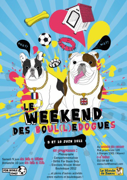 le week end du bouledogue 2012!!!