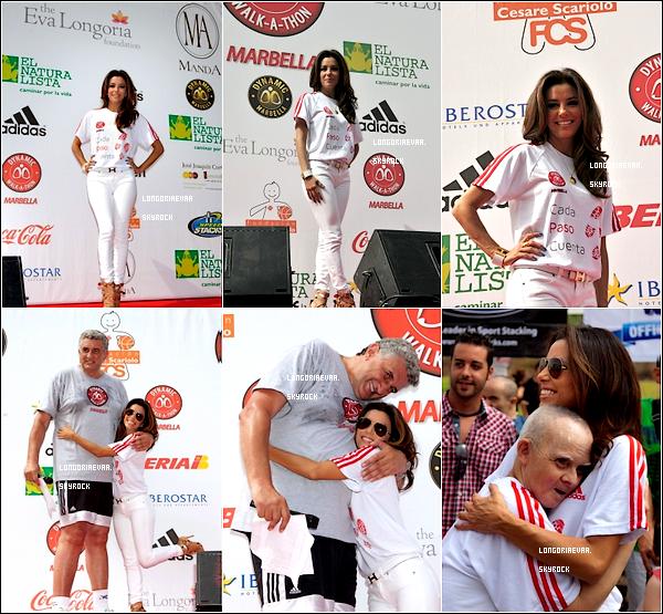 """18/08/2012 : Eva était a Marbella pour réunir des fonds pour sa fondation : """"Eva Longoria Fondations's""""."""