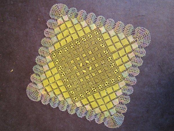 Un carré torchon bien coloré