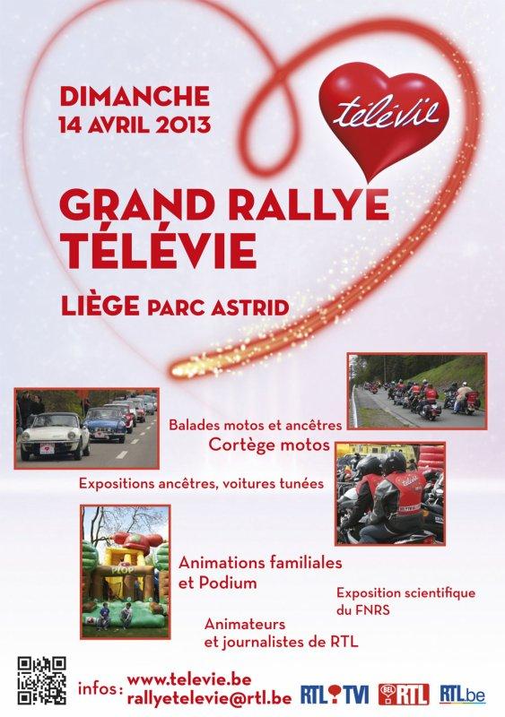 Le dimanche 14 avril 2013, RTL se mobilise pour Le Grand Rallye du Télévie