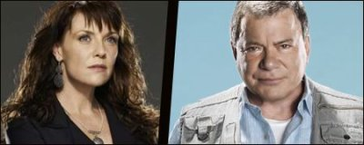 Amanda Tapping et William Shatner, mariés à l'écran