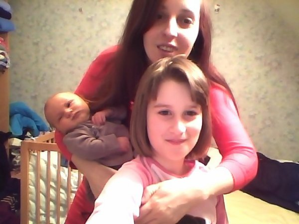 moi mon bebe et ma fille ainee