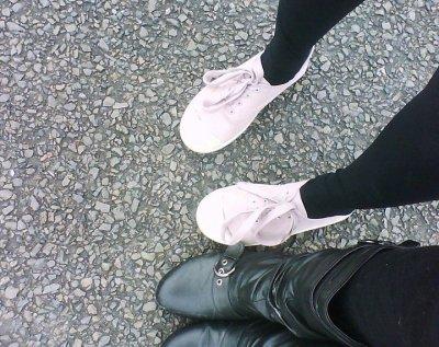 Moi et Laetitia fin nos chaussure