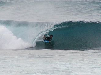 File source: http://commons.wikimedia.org/wiki/File:Oahu_North_Shore_surfing_tube.jpg