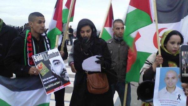 Les jeunes Sahraouis manifestent à Paris