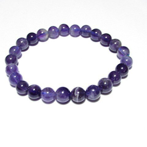 Bracelet perles ronde Améthyste