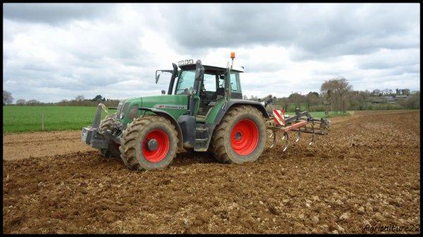 Préparation de terres a maïs 2013, Fendt 714 vario & Samson...