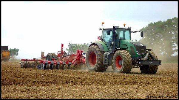 Préparation de terres à haricots