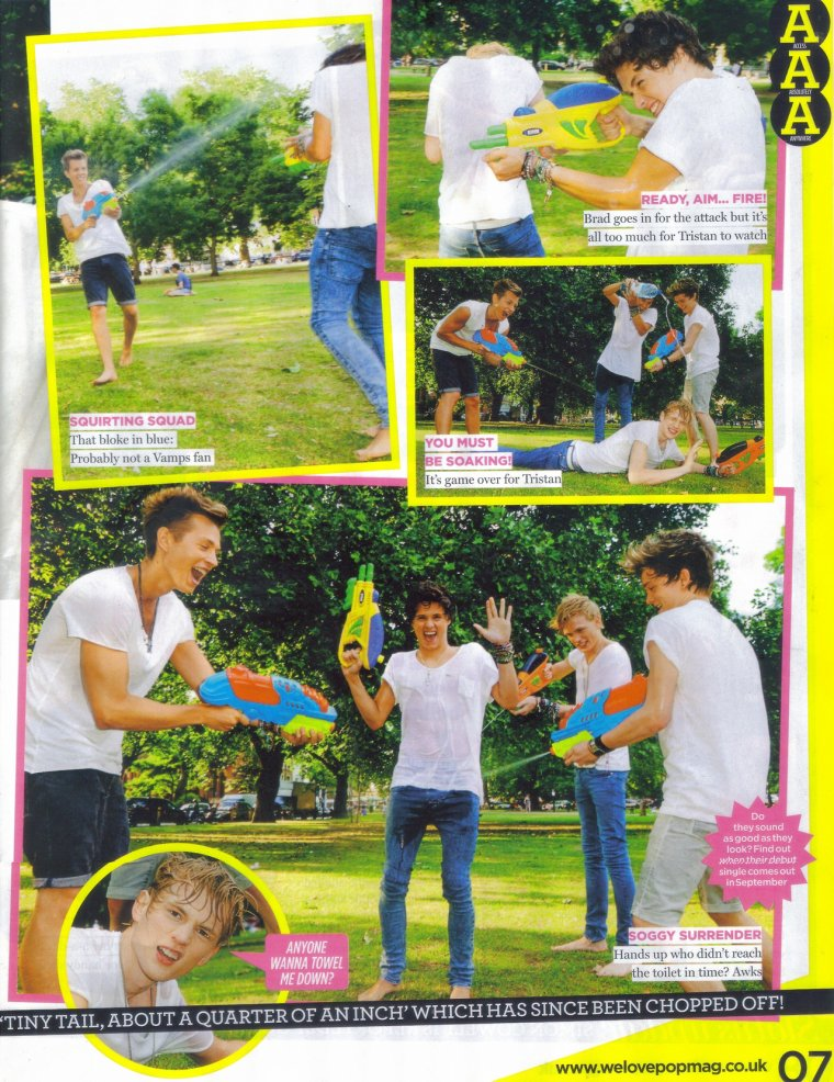 "The Vamps dans le Magazine ""We Love Pop"""