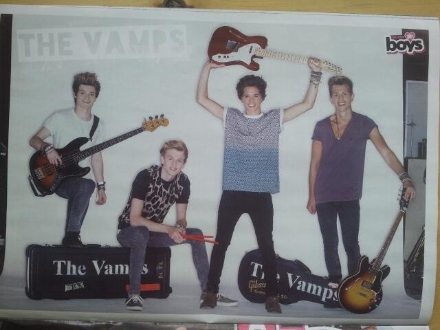 The Vamps dans Bliss 100% Boys Magazine
